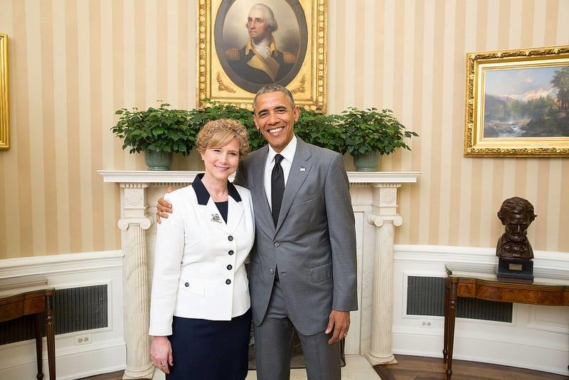 Mrs.Tennis with President Obama