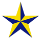 Stella Schola logo: blue and yellow star